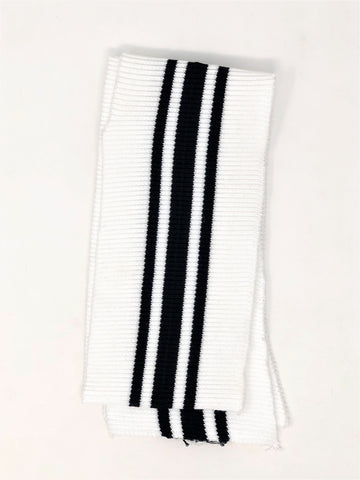 Wholesale Rib Knit Fabric Cotton White / Black Stripes - ZipUpZipper
