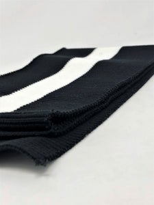 Wholesale Rib Knit Fabric Cotton Black / White Stripe