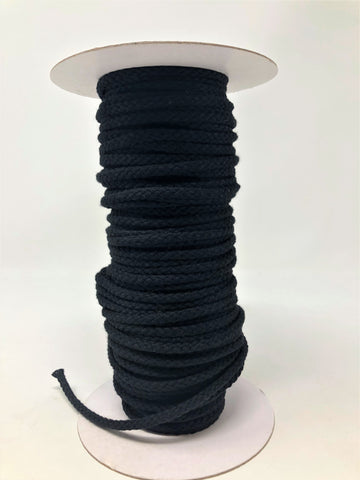 "Black Round Drawstring Cord 1/2"" Full Roll - 144 Yards - - ZipUpZipper"