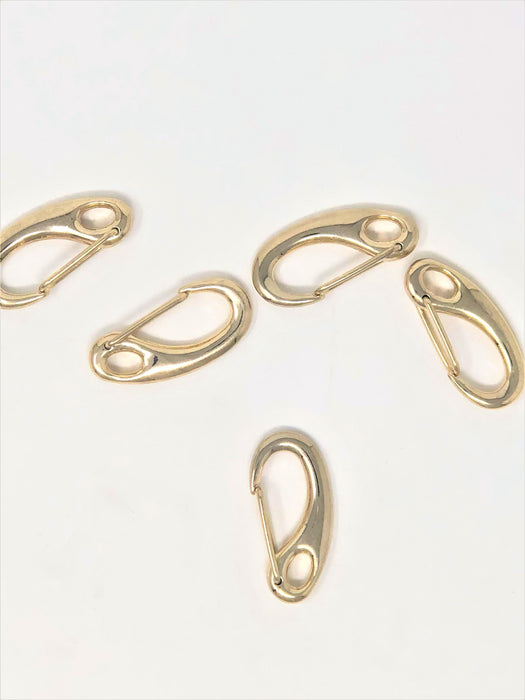 Curved Hook Clasp in Brass 2 Inches - ZipUpZipper
