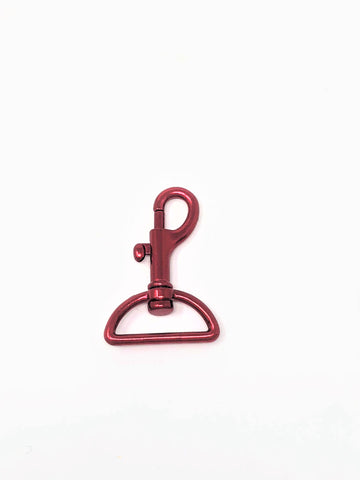 "Dark Red Swivel Snap Hook 1 3/4"" - ZipUpZipper"