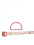 "Metal D Ring 1"" Hot Pink Plated Loop Ring - ZipUpZipper"