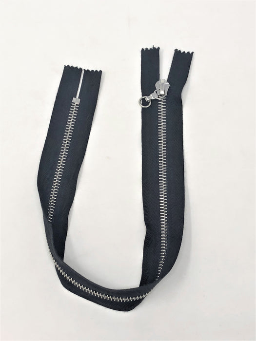 Black Riri Purse Zipper Closed Bottom, Non-Separating 6MM 15 inches for Purses, Bags, Backpacks. Accessories, and More - ZipUpZipper