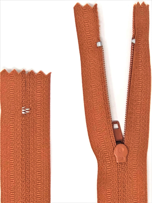 Pumpkin Brown #699 Generic Nylon Zipper 12-22 Inches #3 Closed -Wholesale-