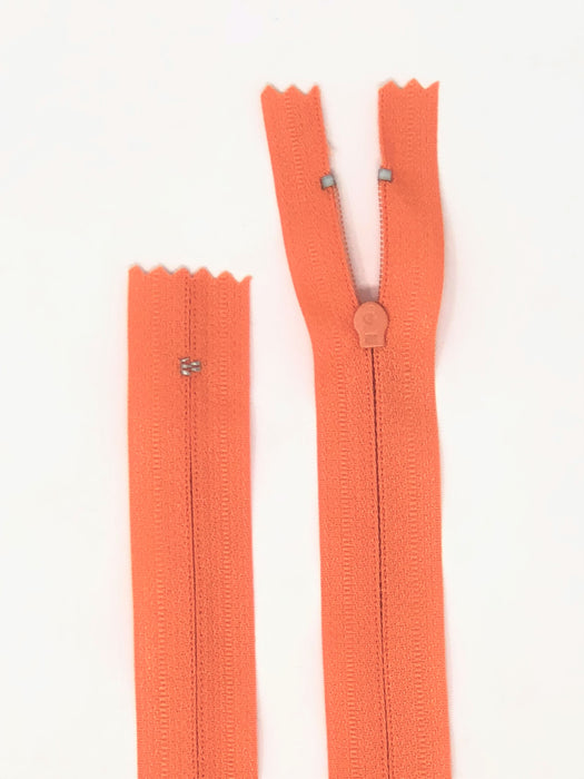 Bright Orange #P523 Generic Nylon Zipper 12-22 Inches #3 Closed -Wholesale-