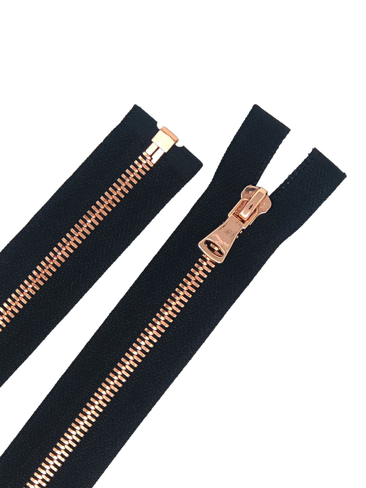 High Glossy Polished European Zipper in 28 inches Black Tape 5MM or 8MM