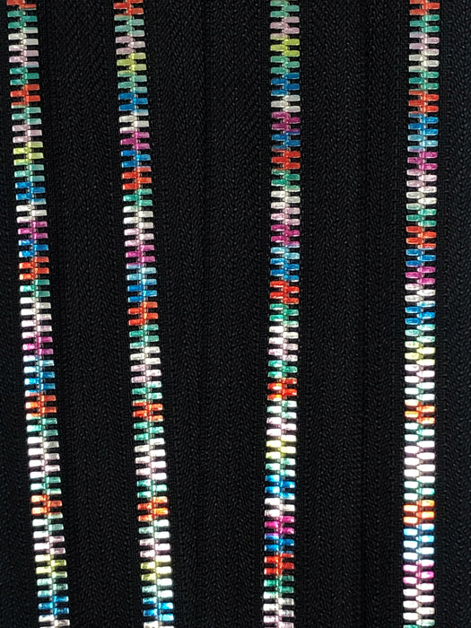 Wholesale  Rainbow Metal 5mm Non-Separating Pocket Zippers Nickel Pull Closed Bottom