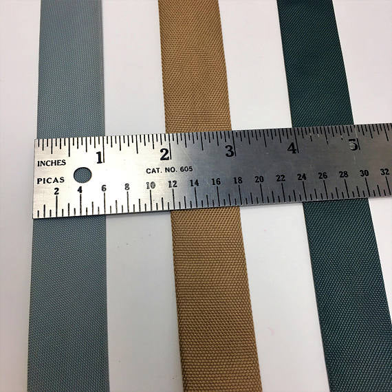 "1"" Wide Nylon Centerfold Bias - ZipUpZipper"