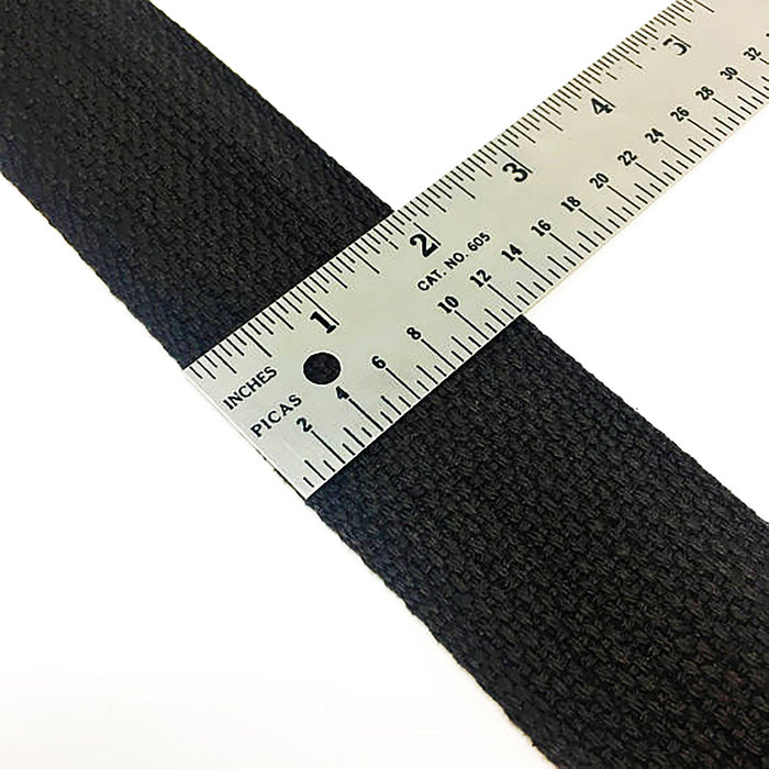 2 inch Wide Cotton Webbing Black