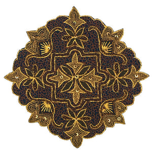 Embroidered Beaded Ornate Patch Emblem 8""