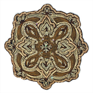 Embroidered Beaded Ornate Patch Emblem