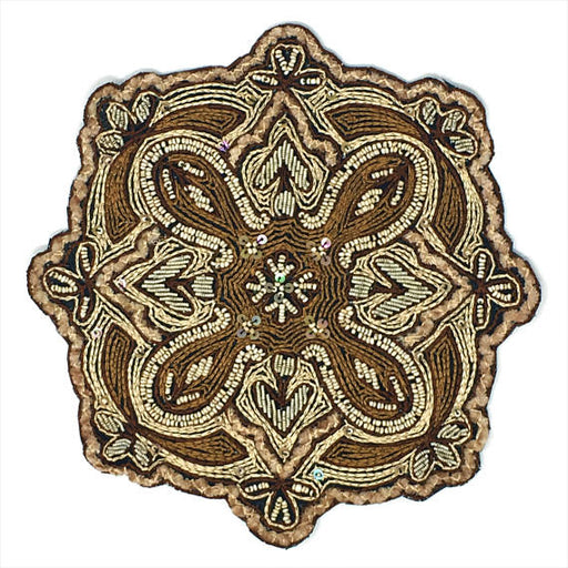 Embroidered Beaded Ornate Patch Emblem - ZipUpZipper