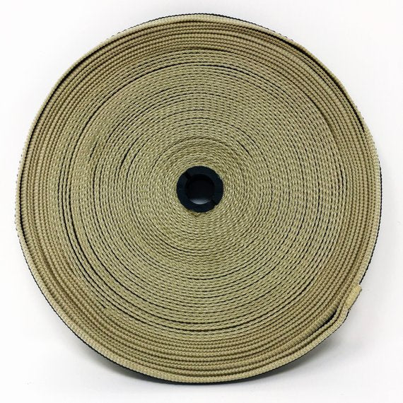 "1"" Wide Polypropylene Grip Webbing One Yard Piece Light Grey with Dark Grey Stripes - ZipUpZipper"
