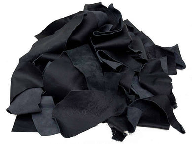 Leather Scraps 1 Pound Black
