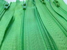 Lime Green #536 Generic Nylon Zippers 12-22 Inches #3 Coil Closed Bottom