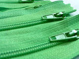 Lime Green #536 Generic Nylon Zippers 12-22 Inches #3 Coil Closed Bottom - ZipUpZipper