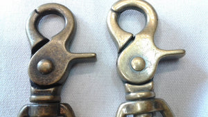"Lobster Clasp Hook 2 5/8"" Antique Brass Finish"