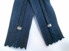 Navy #560 Generic Nylon Zippers 12-22 Inches #3 Coil Closed Bottom - ZipUpZipper