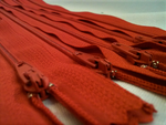 Red #819 Generic Nylon Zippers 12-22 Inches #3 Coil Closed Bottom - ZipUpZipper