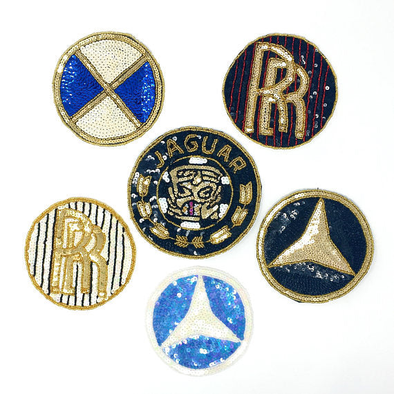 Car Patch Jaguar BMW Mercedes-Benz Rolls Royce Sequins - ZipUpZipper