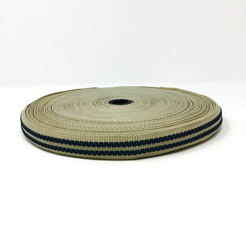 "1"" Wide Polypropylene Grip Webbing Soft Gold - ZipUpZipper"