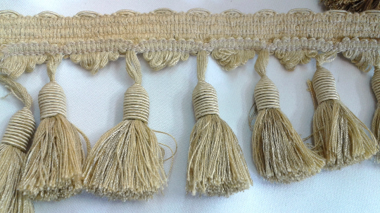 Light Gold Tassel Fringe By Yard - ZipUpZipper