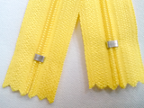 Yellow #504 Generic Nylon Zippers 12-22 Inches #3 Coil Closed Bottom - ZipUpZipper