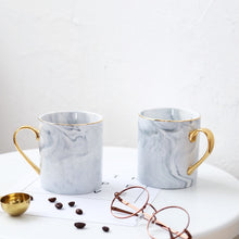 Load image into Gallery viewer, Exquisite Marble Coffee Mug with Gold Plating - Smart Gadget Hub