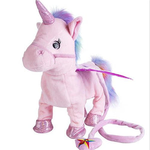 Electric Walking Unicorn Plush Toy - Smart Gadget Hub