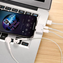 Load image into Gallery viewer, Double Jack Audio & Charging Adapter for iPhone - Smart Gadget Hub