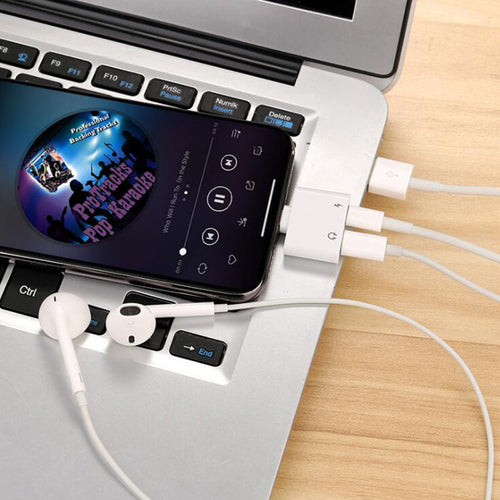 Double Jack Audio & Charging Adapter for iPhone - Smart Gadget Hub