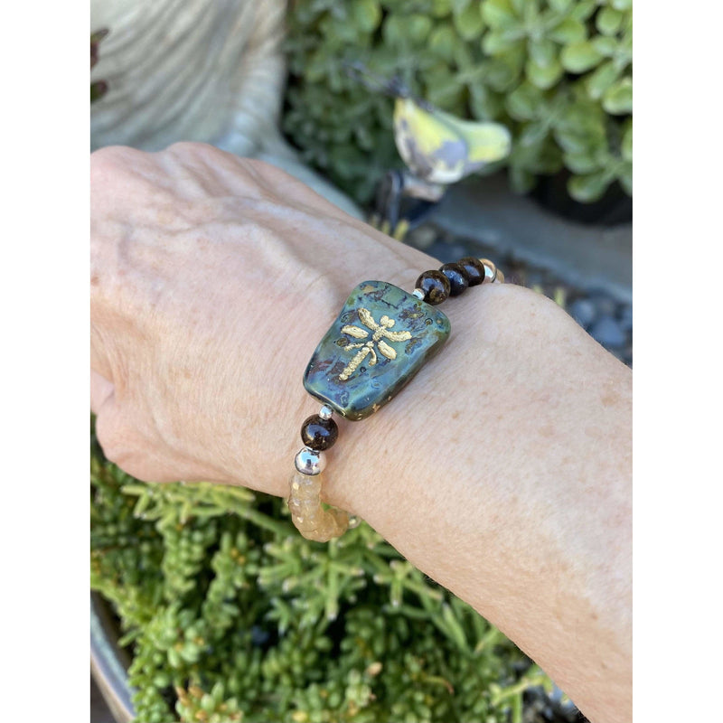 SB=BOHO-0336  Dragon Fly Bracelet