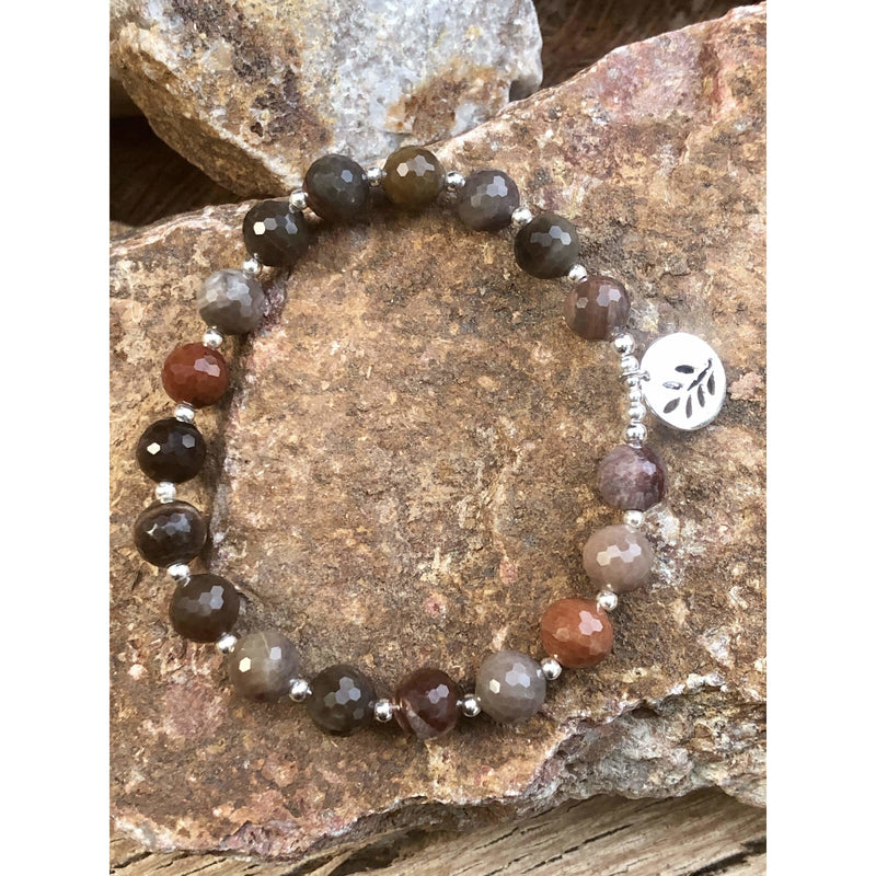 SB0289 - Petrified Wood Bracelet