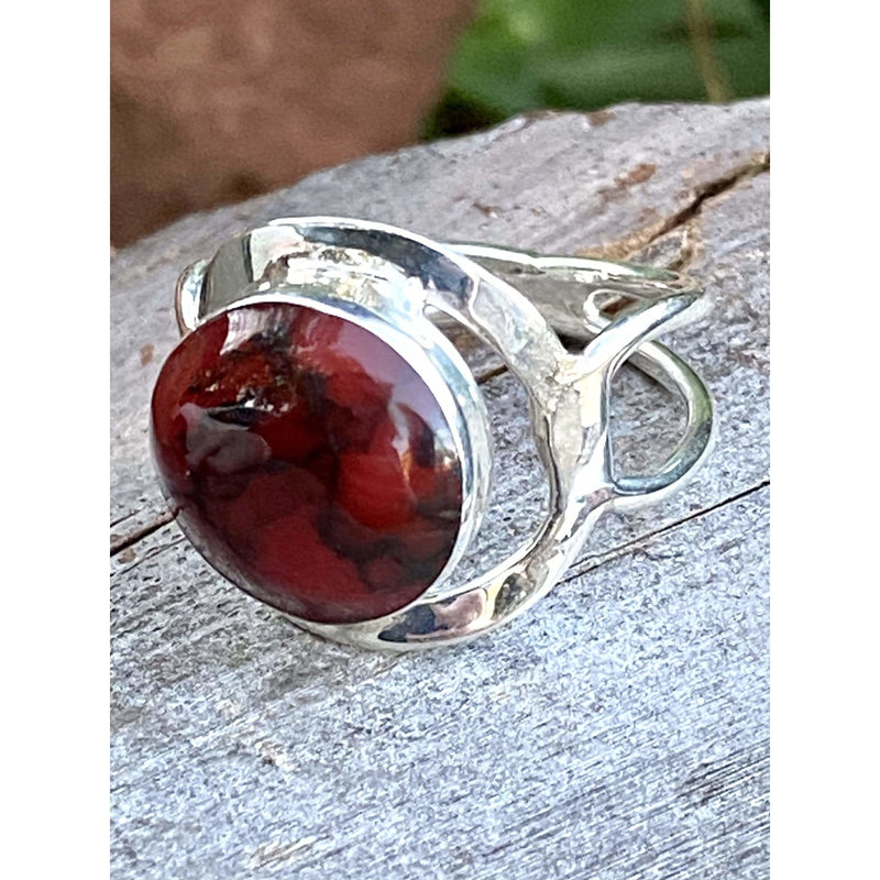 R0137 -  Red Moon Ring