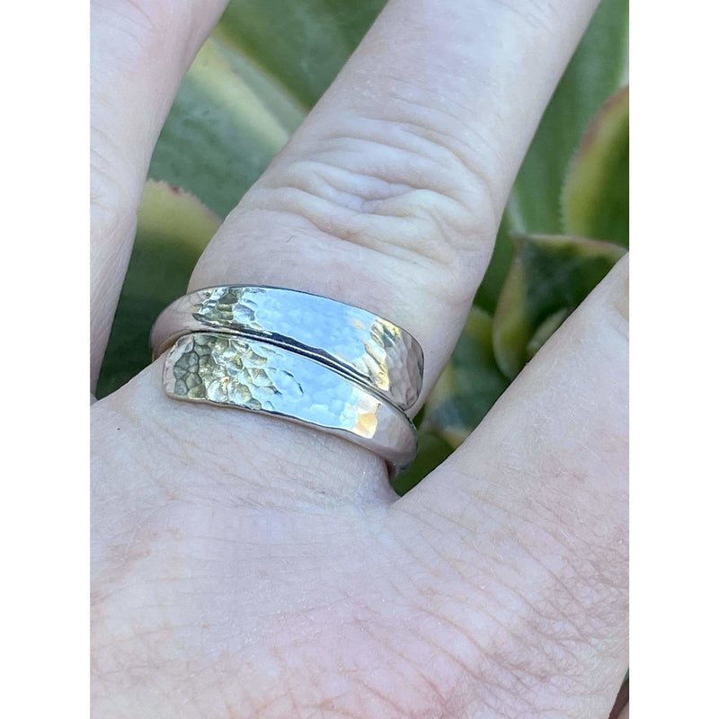 R0132 - Sterling Silver Hammered Ring