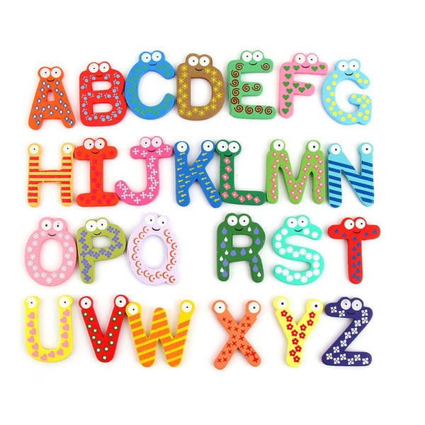 Wooden Magnetic Alphabet and Numbers