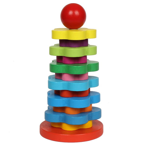 Wooden Rainbow Tower