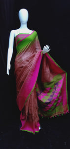 Digital Printed Linen Dual Shade Saree