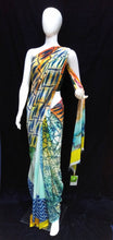 Load image into Gallery viewer, Multicolor - Printed Georgette Saree