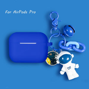 Coque en silicone Airpods Cartoon Astronaute-YOUTHMOOD