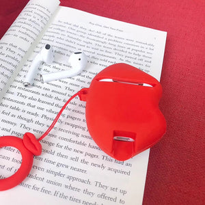 Etui Red Lips pour Airpods-YOUTHMOOD