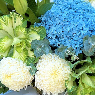 Blossoms Bouquet - Blues, Whites and Green