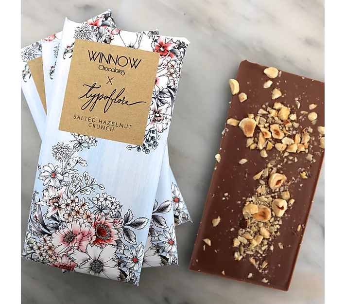 Salted Hazelnut Crunch | Typoflora X Winnow