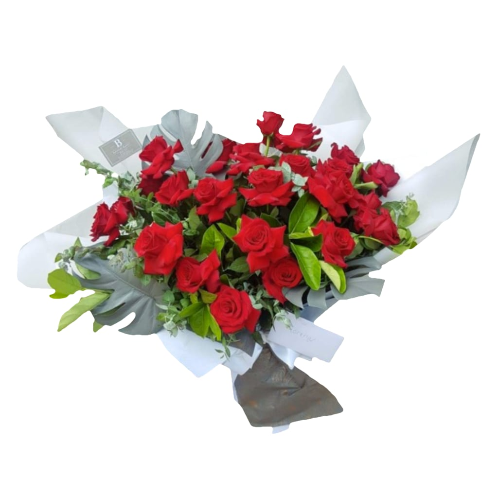 Valentine's Luxury Twenty-Four Red Rose Bouquet