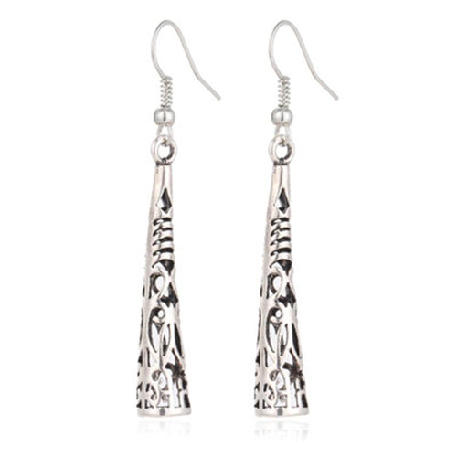 Intricately Designed Silver Earrings - Mseljoy Accessories