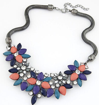 Statement Necklace - Multicolor - Mseljoy Accessories