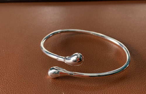 Sterling Silver Wrapped Bangle - Mseljoy Accessories