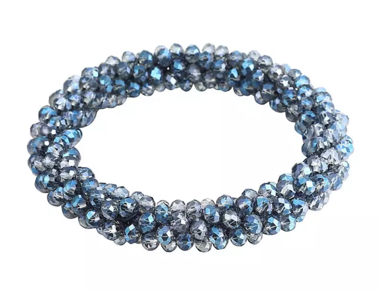 Beaded Acrylic Stretch Bracelet - Six Available Colors - Mseljoy Accessories