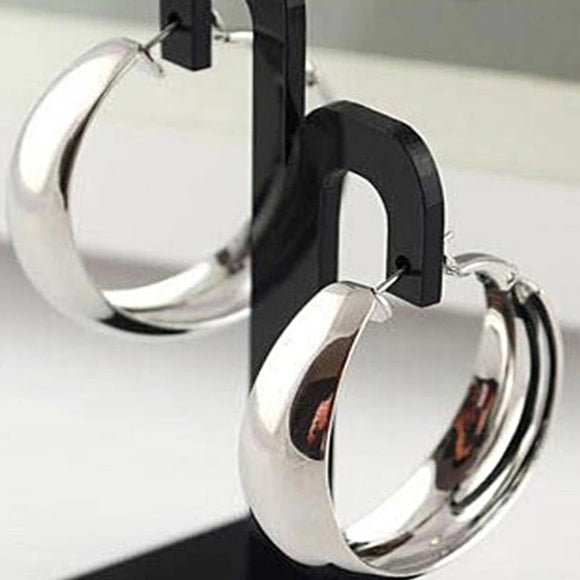 Classic Silver Hoops - Mseljoy Accessories