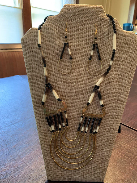 Porcupine Quill Necklace & Earrings - Mseljoy Accessories